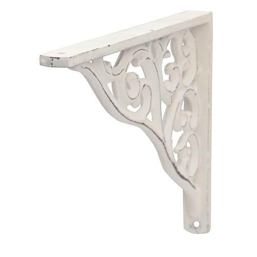 Support pour étagère Duraline Barok blanc antique 23x18cm