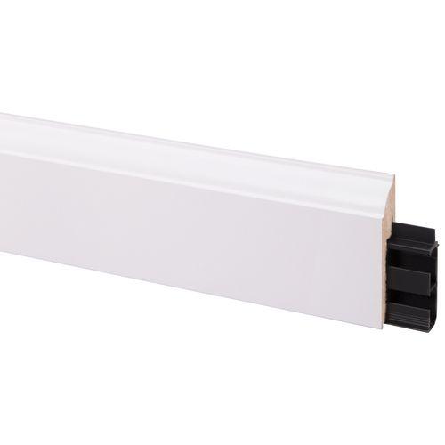 CanDo decoratieve plint met kabelgoot stijl wit 19 x 80mm