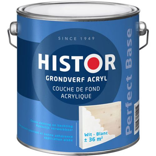 Histor Perfect Base Grondverf Acryl Wit 2500ml