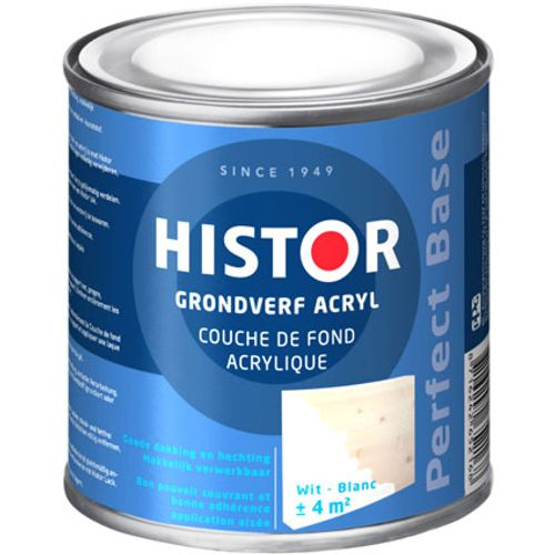 Histor Perfect Base Grondverf Acryl Wit 250ml