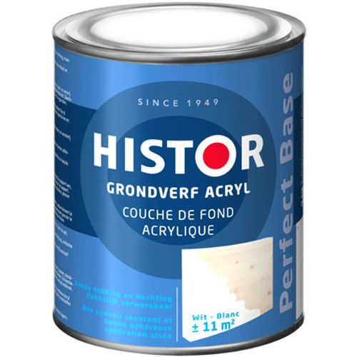 Histor Perfect Base Grondverf Acryl Wit 750ml