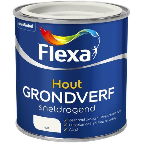 Flexa sneldrogende grondverf hout wit 250ml