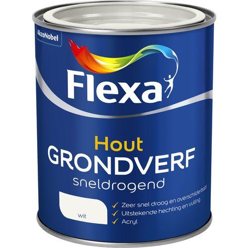 Flexa sneldrogende grondverf hout wit 750ml