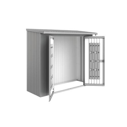 Biohort deurenpakket Woodstock 230 zilver metallic