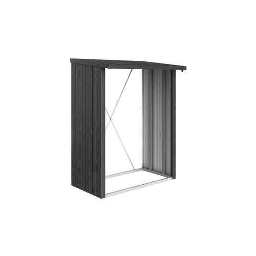 Biohort haardhoutopslag WoodStock 150 donkergrijs metallic 102x157cm