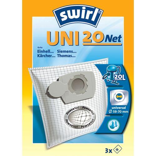 Swirl stofzuigerzak 'Uni 20 Net' - 3 stuks