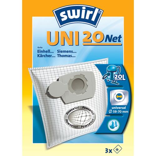 Sac aspirateur Swirl 'Uni 20 Net' - 3 pcs