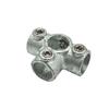 Connecteur T Flexfit métal galvanisé diam. 28 mm