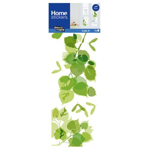Sticker pour vitre feuilles vertes Nouvelles Images 24 x 69 cm
