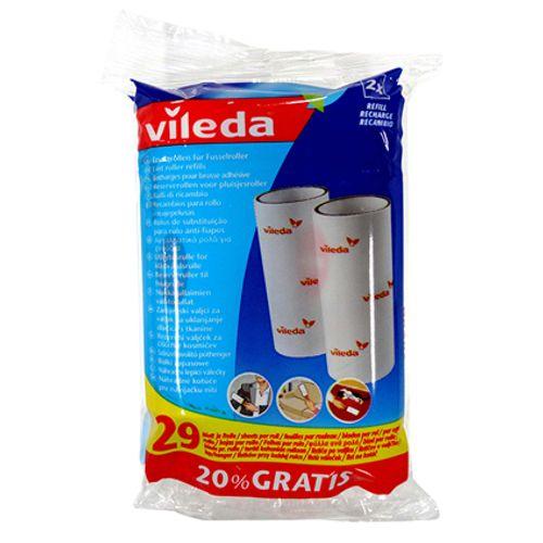Brosse adhésive recharge 2 x 29 feuilles Vileda