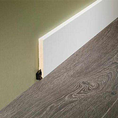 Sencys rechte plint wit te verven 1,4x12cm