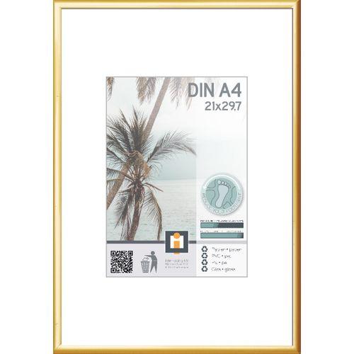 Cadre photo Intertrading doré 21 x 30 cm