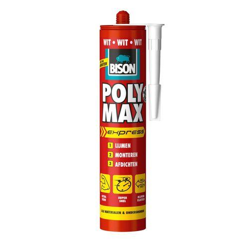 Bison universele montagelijm Poly Max Express Wit 425g