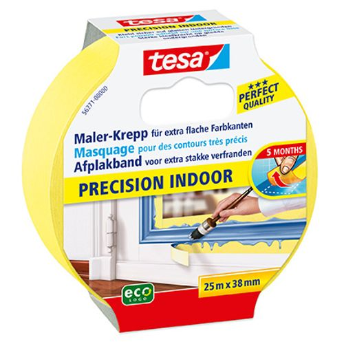 Tesa afplakband 'Precision Indoor' 25mx38mm
