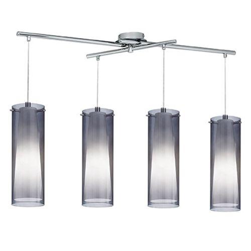 EGLO hanglamp Pinto Nero 4 lampen