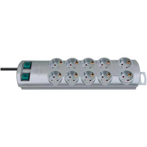 Brennenstuhl stekkerdoos primera-line 10-voudig zilver 2m H05VV-F 3G1,5