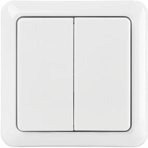 KlikAanKlikUit draadloze dubbele wandschakelaar AWST-8802