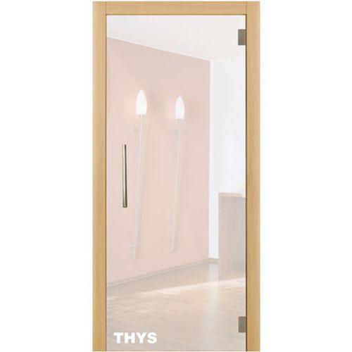 Porte en verre sécurit Thys 'Thytan Everyway' mat 211x88cm