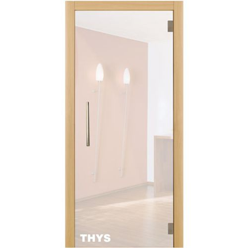 Porte en verre sécurit Thys 'Thytan Everyway' mat 230x83cm