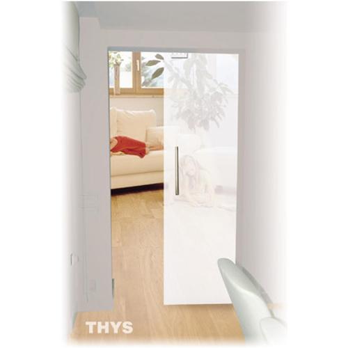 Porte coulissante en verre sécurit Thys 'Thytan Sliding' mat 233x103cm