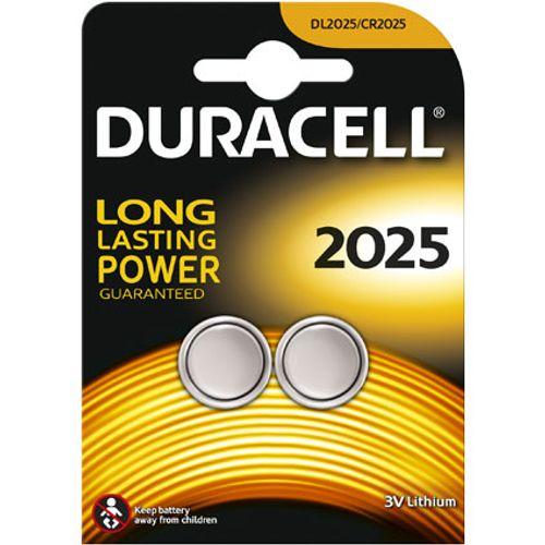 Pile bouton lithium Duracell '2025' 3 V - 2 pcs