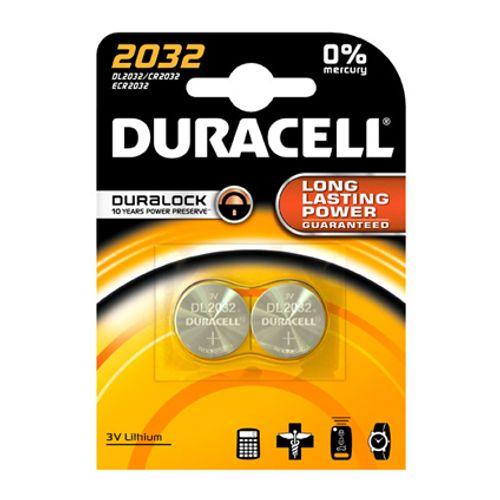 Pile bouton lithium Duracell 'CR2032' 3 V - 2 pcs