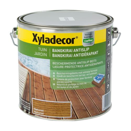 Xyladecor houtbeits 'Bangkirai antislip' naturel satijn 2,5L