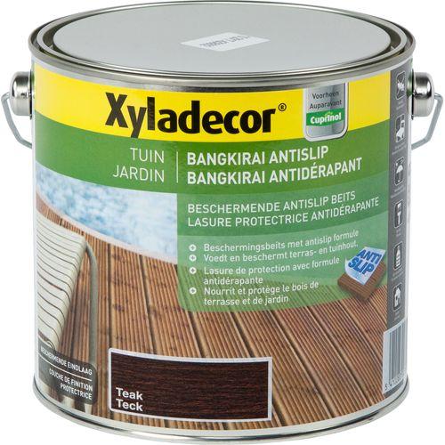 Xyladecor houtbeits 'Bangkirai antislip' teak satijn 2,5L