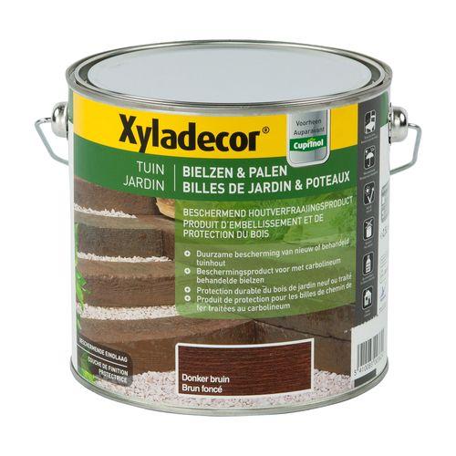 Protection bois Xyladecor 'Billes de jardin & poteaux' brun foncé satin 2,5L