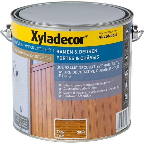 Lasure décorative Xyladecor Portes & Châssis teck 2,5L