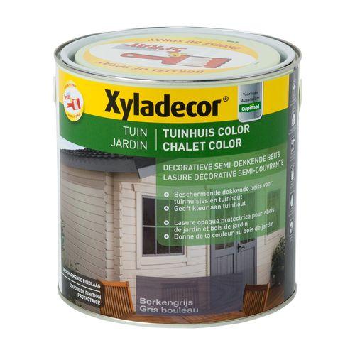 Lasure Xyladecor Chalet Color gris bouleau mat 2,5L