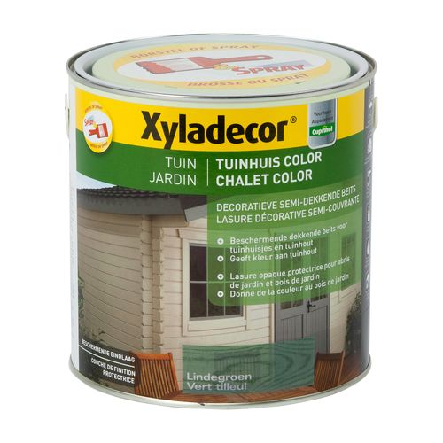 Xyladecor houtbeits 'Tuinhuis Color' lindegroen mat 2,5L
