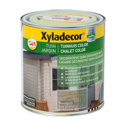 Xyladecor houtbeits 'Tuinhuis Color' nevelgrijs mat 1L