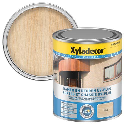 Lasure décorative Xyladecor Portes & Châssis UV-Plus incolore satin 750ml