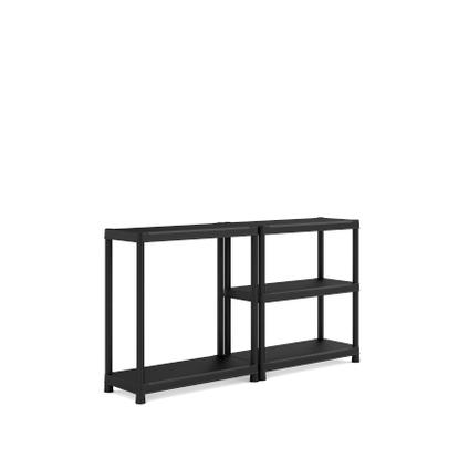 Sencys rek PVC zwart 40 x 90 x 187 cm