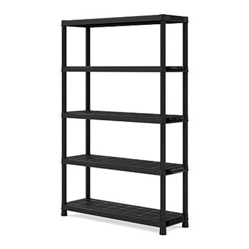 Sency's rek PVC zwart 40 x 120 x 187 cm