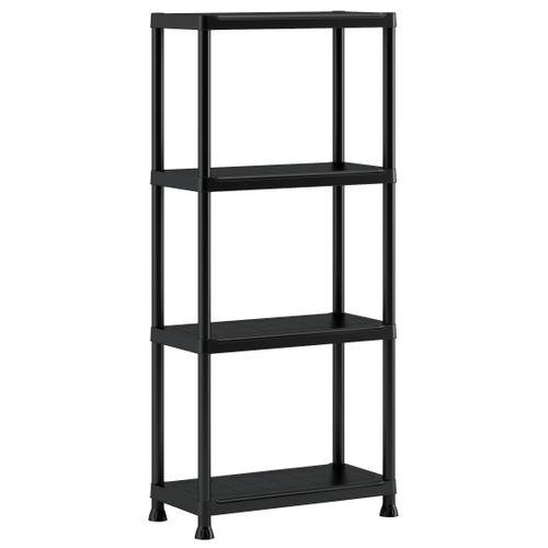 Etagère Baseline PVC noir 30 x 60 x 135 cm
