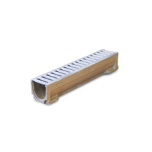 Désableur avec grille pour caniveau Coeck béton 50 x 11 cm