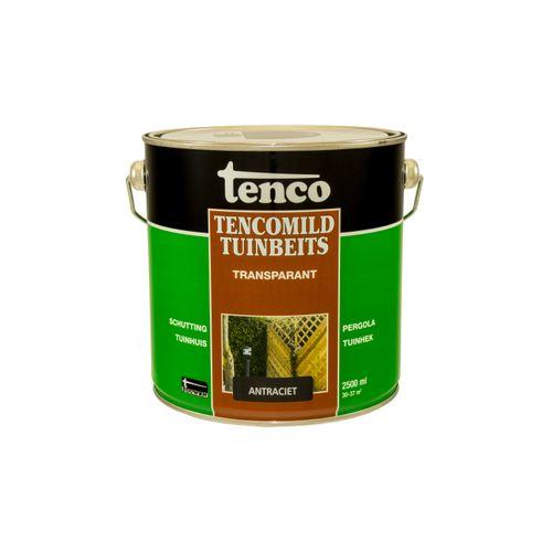 Tenco Tencomild tuinbeits transparant antraciet 2,5L