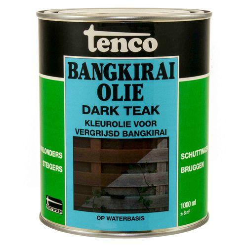 Tenco bangkirai olie dark teak 1L