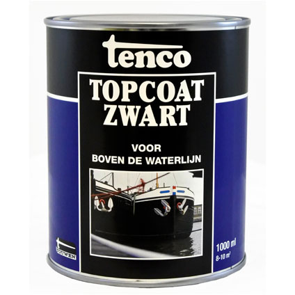 Tenco Topcoat roestwerende coating zwart 1 l