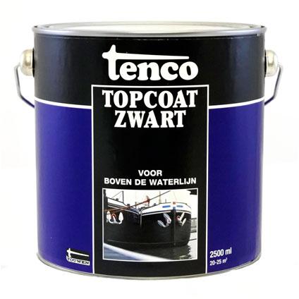 Tenco Topcoat roestwerende coating zwart 2,5 l