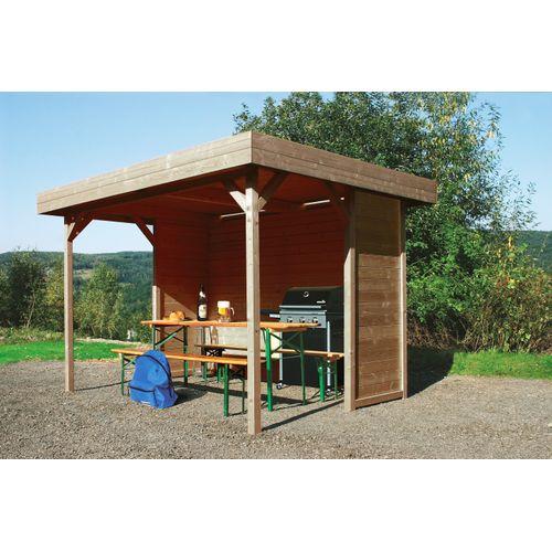 Solid kiosk Regensburg geïmpregneerd hout 300x200x223cm