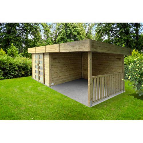 Abri de jardin Solid Arhus bois 8,14m² 332+317x245cm