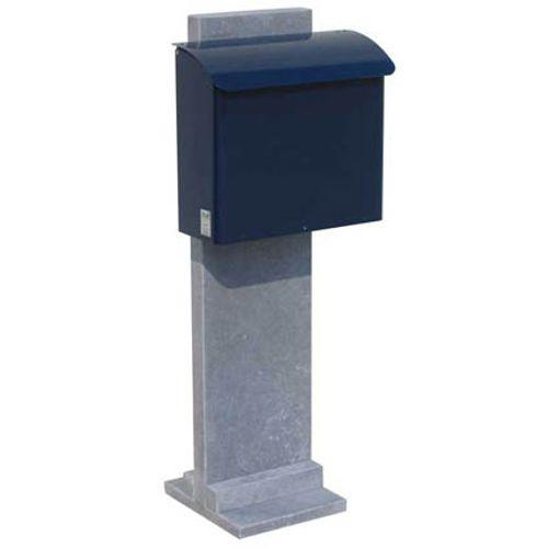 Boite aux lettres sur palissade VASP 'Götenborg-Blue' pierre bleue belge et métal