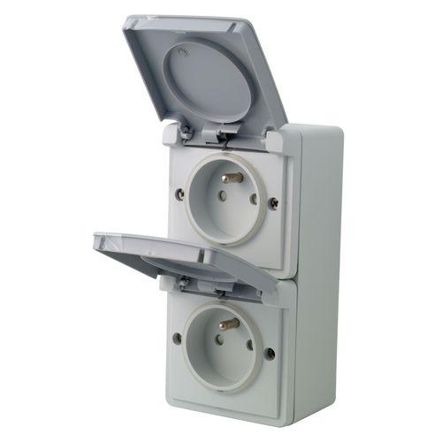 Niko stopcontact New Hydro verticaal opbouwdoos IP55