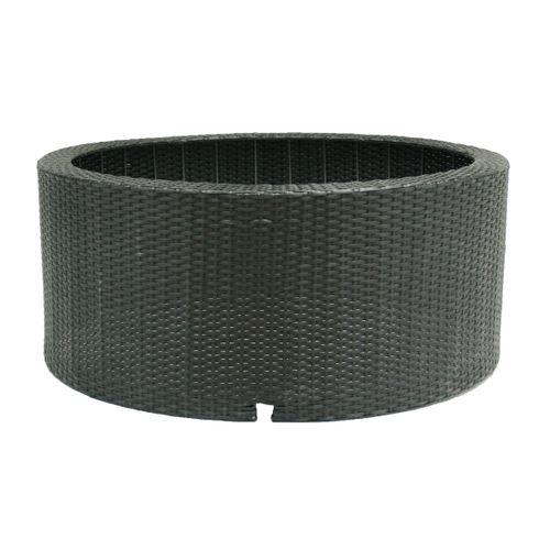 Sokkel voor waterfontein Ubbink 'Wicker II' rond zwart 150 L