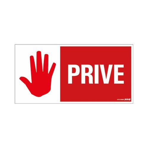 PickUp plaat 'Privé'