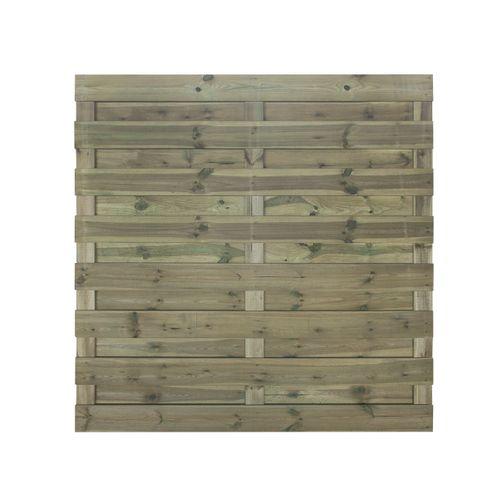 Ecran de jardin Robusto droit pin gris 180x180cm