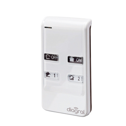 Diagral afstandsbediening met 4 functies 'Diag41ack'